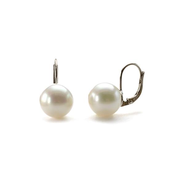 boucle d 39 oreille dormeuse et perles nacr es blanches simon simon. Black Bedroom Furniture Sets. Home Design Ideas