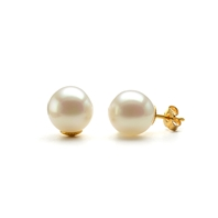 Boucles Clous Perles Baroques Blanches