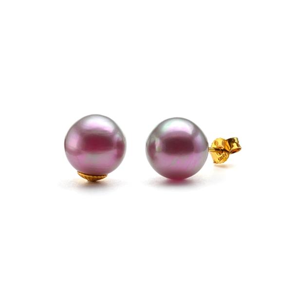 boucles oreilles clous perles rose fonc 8mm plaqu or simon simon puces petites filles. Black Bedroom Furniture Sets. Home Design Ideas