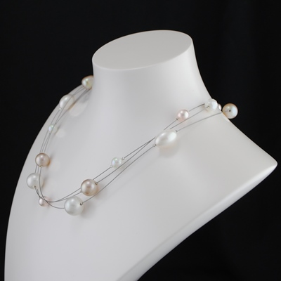 Collier Original en Nuance de Perles Nature