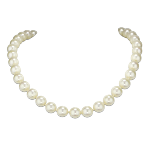 Collier perles blanches 10 mm & fermoir magnétique Angelina
